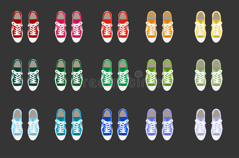 Download Sneaker stock illustration. Image of accessory, bows, wedge - 4929645