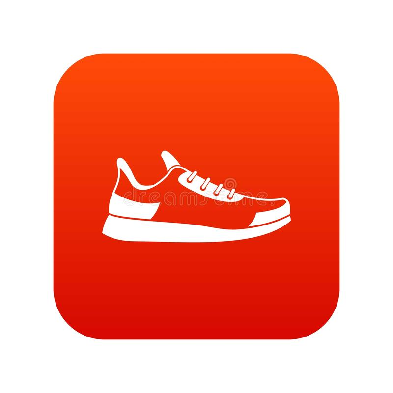 Sneaker icon digital red vector illustration