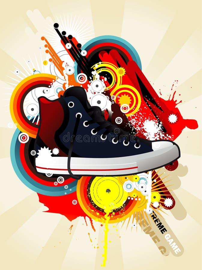 Download Sneaker illustration stock vector. Image of design, splash - 18010599