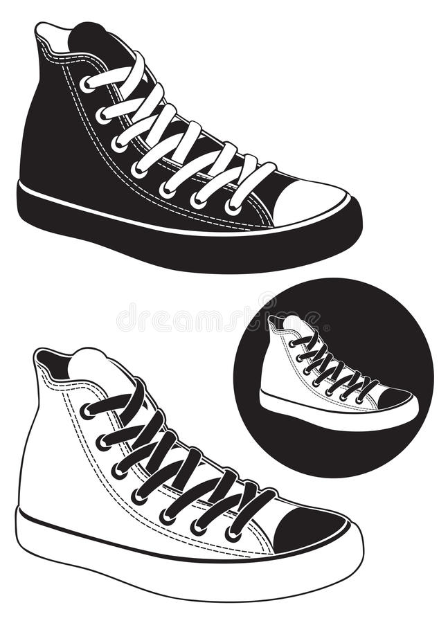 Download Sneakers stock vector. Illustration of rugged, sneakers - 28040906
