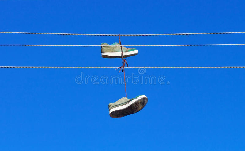 Download Sneakers stock photo. Image of litter, copyspace, blue - 28322806