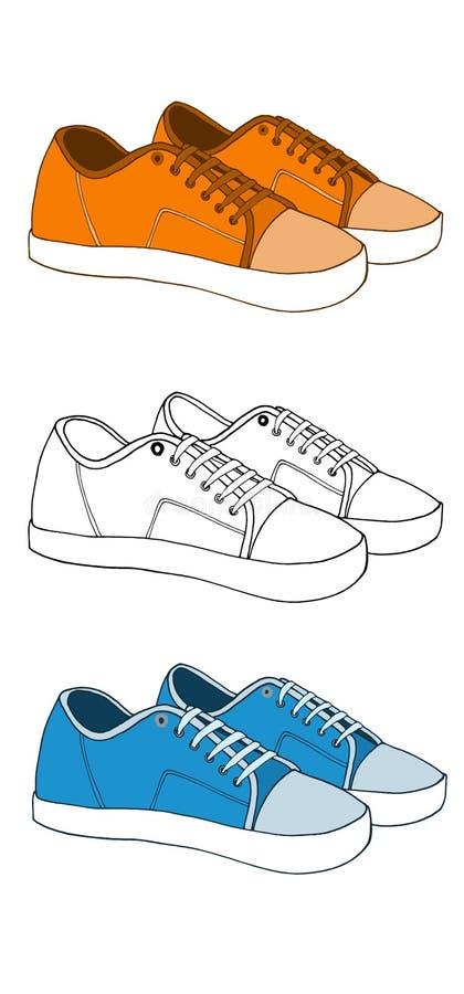 Sneakers1 royaltyfria bilder