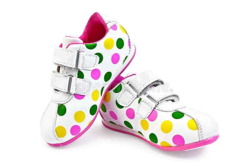 Sneakers for girls stock images