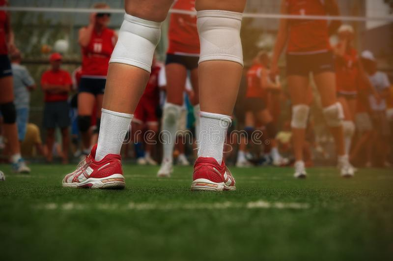 Sneakers, grass, game, stamp, commodity stock photos