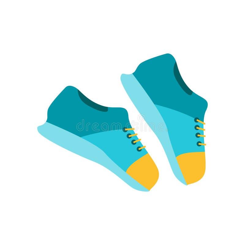 Sneakers ikony wektoru znak i symbol odizolowywający na białym backgroun ilustracja wektor