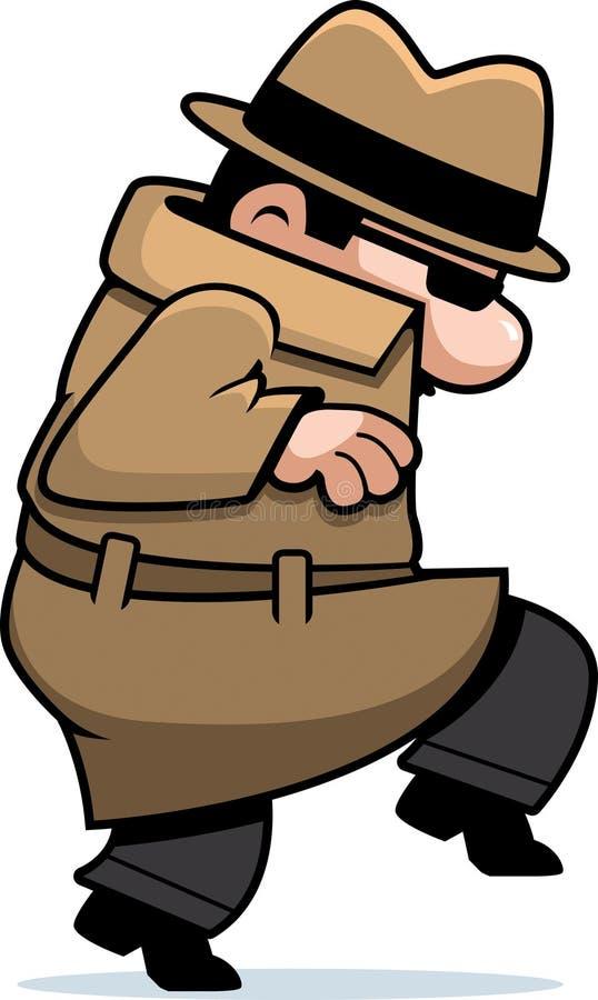 Sneaking do espião ilustração do vetor