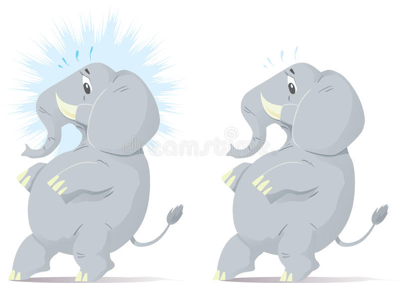 Download Sneaking, Nervous Elephant. Stock Vector - Image: 15120507