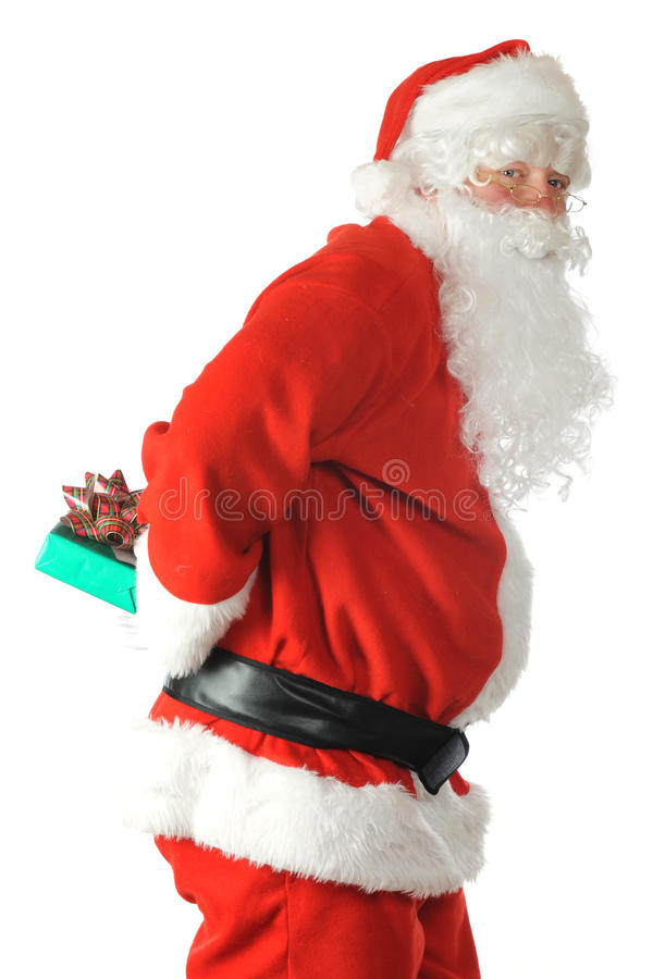 Download Sneaky Santa stock image. Image of winter, claus, sneaky - 11834361