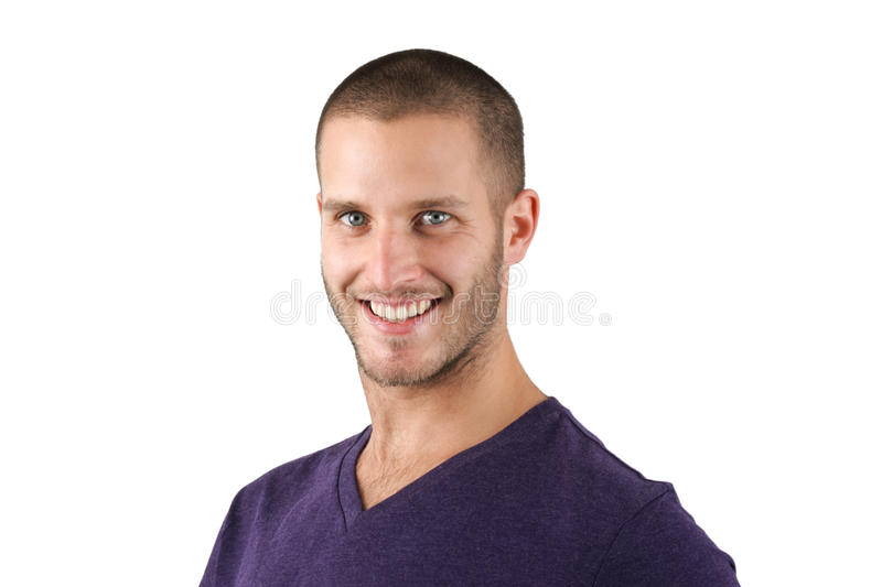 Sneaky Smile. Young man with sneaky smile isolated royalty free stock images
