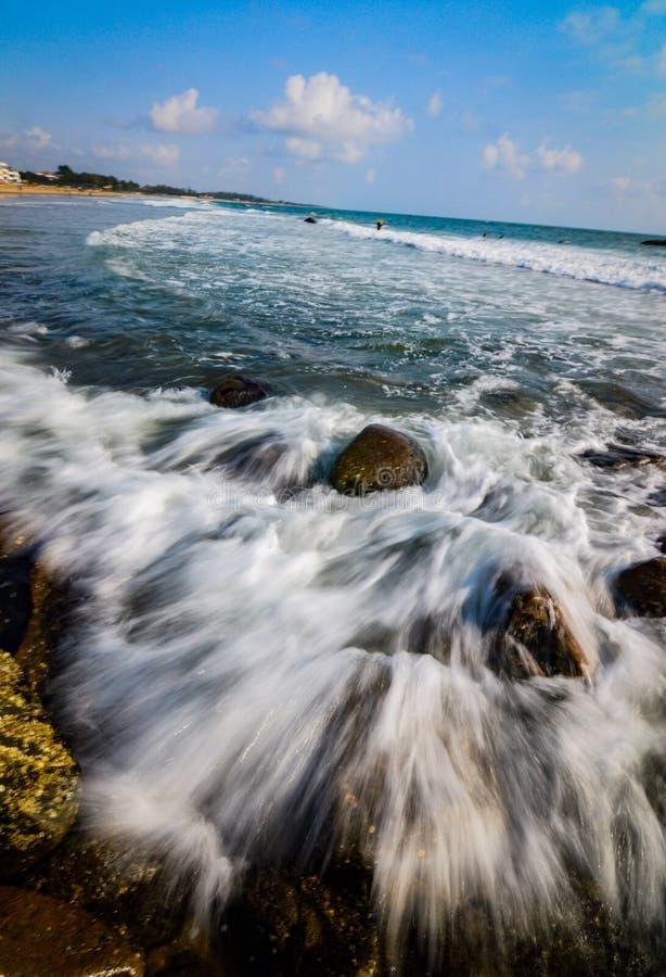 Snedstreck av havet royaltyfri foto