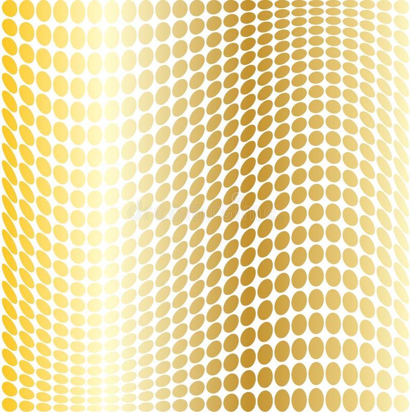 Snedvred prickar för guld ändring vektor illustrationer