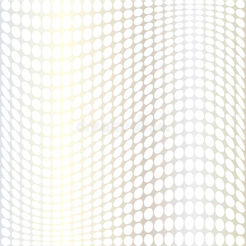 Snedvred prickar för silvervit ändring stock illustrationer