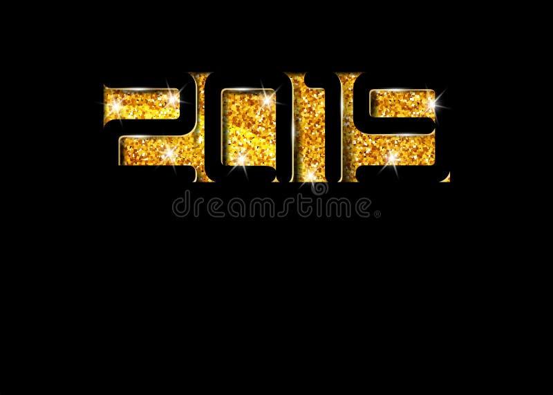 2019 sneed de Gelukkige Nieuwjaarskaart in zwart document stijl, seizoengebonden vakantievliegers, groeten en de uitnodigingenkaa vector illustratie