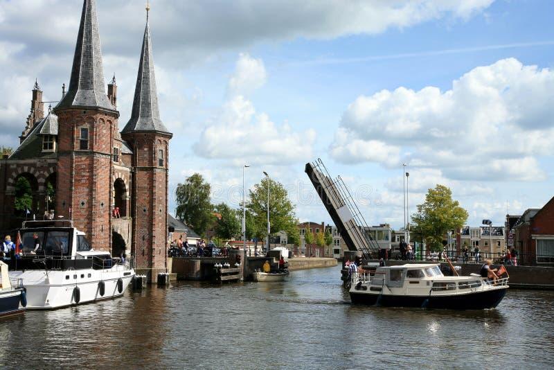 Sneek â Nederland. De provincie van Friesland royalty-vrije stock foto's