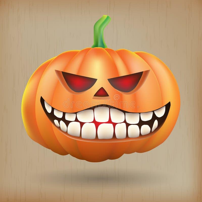 Sneer pumpkin vintage background stock illustration