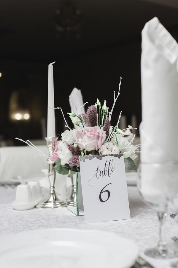Sneeuw behandeld huwelijksboeket stock afbeelding