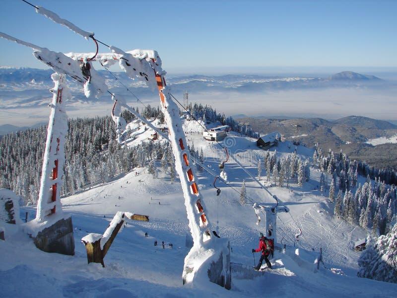 Sneeuw bergbovenkant stock fotografie