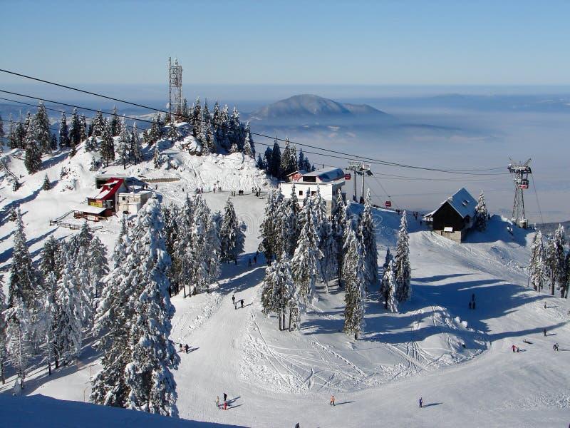 Sneeuw bergen royalty-vrije stock afbeeldingen