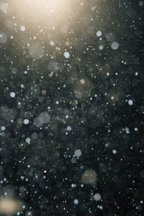 Sneeuw bokeh textuur royalty-vrije stock afbeeldingen