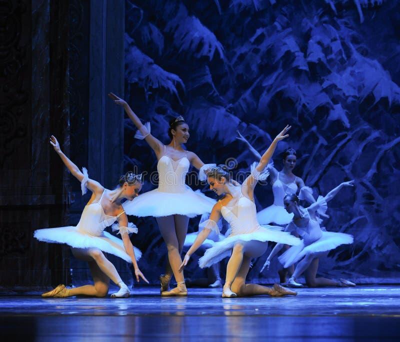 Sneeuw de elf-eerste handeling van het vierde Land van de gebiedssneeuw - de Balletnotekraker stock afbeeldingen