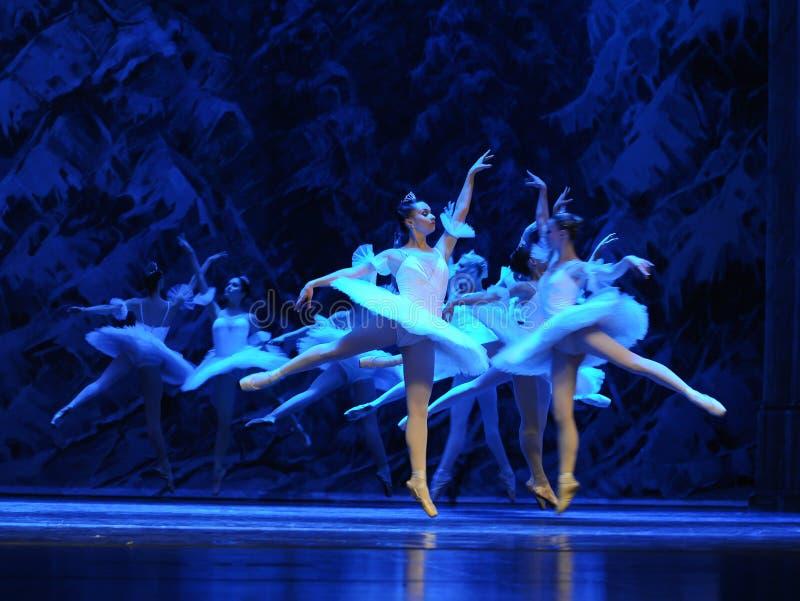 Sneeuw de elf-eerste handeling van het vierde Land van de gebiedssneeuw - de Balletnotekraker royalty-vrije stock afbeelding
