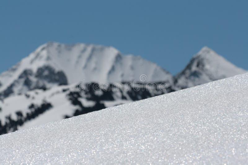 Sneeuw in de Pyreneeën stock afbeelding