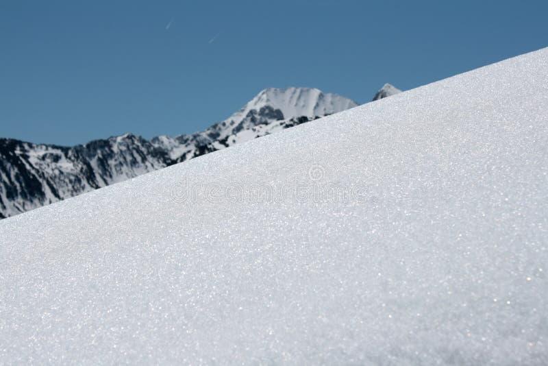 Sneeuw in de Pyreneeën royalty-vrije stock afbeeldingen