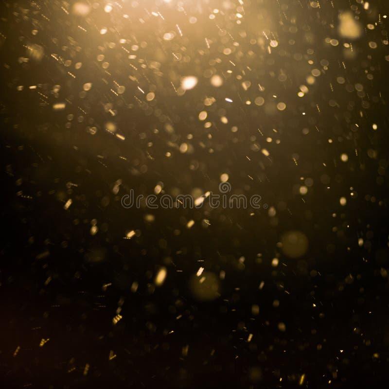 Sneeuw en lichte achtergrond stock afbeeldingen