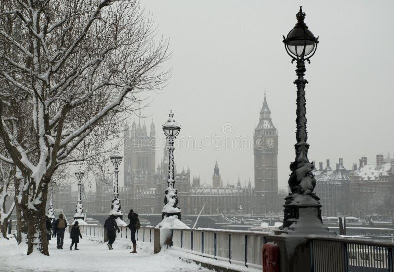 Sneeuw Londen royalty-vrije stock foto