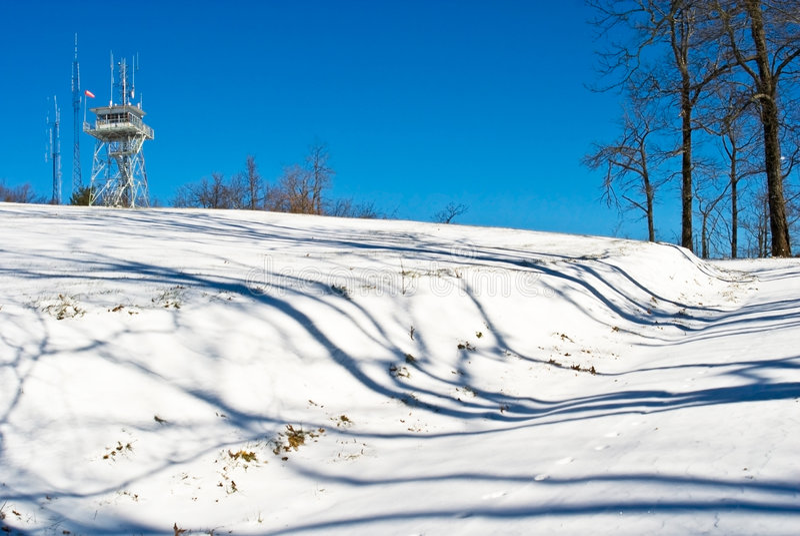 Sneeuw op de Torens van de Cel van de Weg stock fotografie