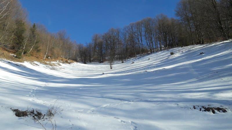 Sneeuw op de vallei royalty-vrije stock afbeelding