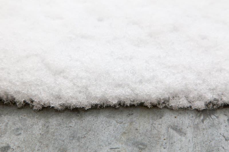 Sneeuw op metaaldak royalty-vrije stock foto
