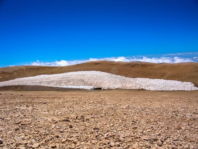 Sneeuw op Qurnat als Sawda stock fotografie