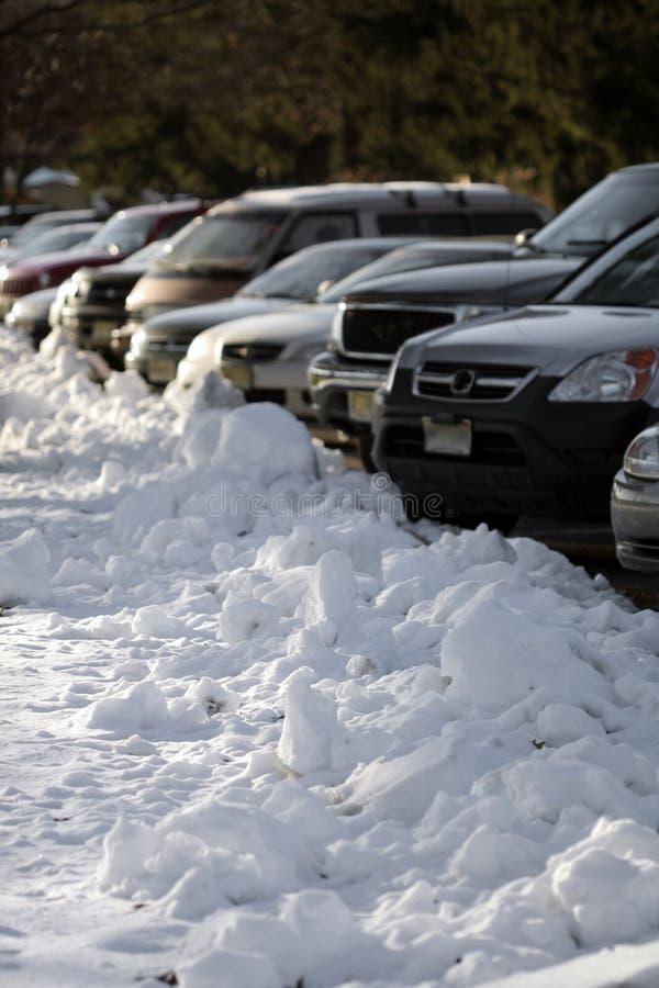 Sneeuw Parkeren stock afbeeldingen