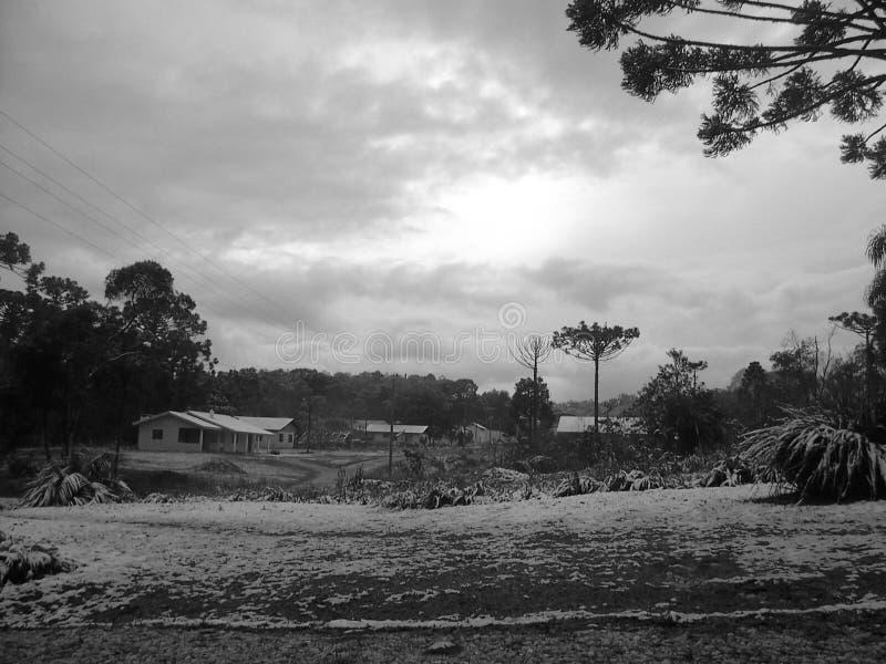 Sneeuw in santa Catarina stock foto