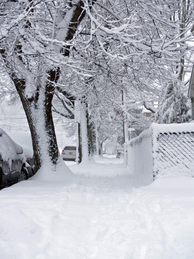 Sneeuw stoep. royalty-vrije stock foto's