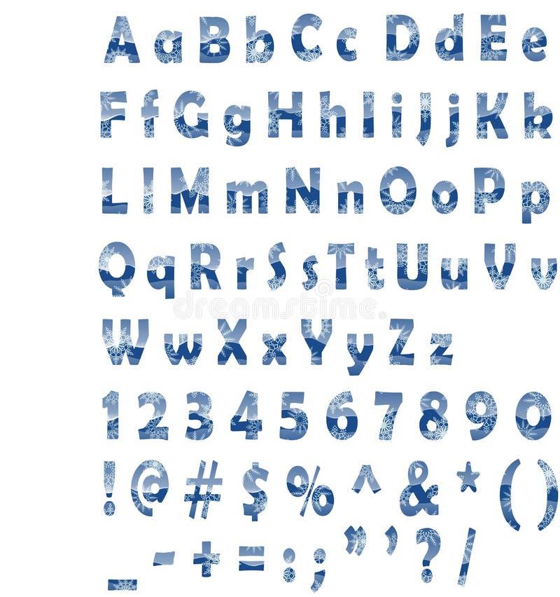 Sneeuw tekst vector illustratie