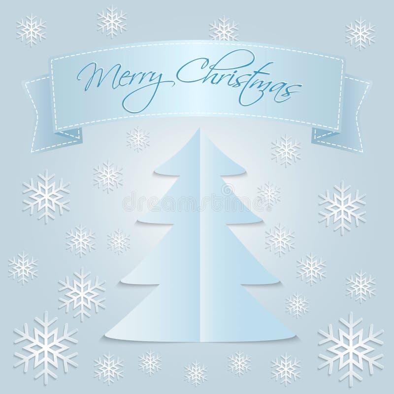 Sneeuw Vrolijke Kerstmis vector illustratie