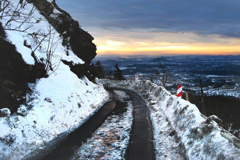 Sneeuw Weg stock afbeelding