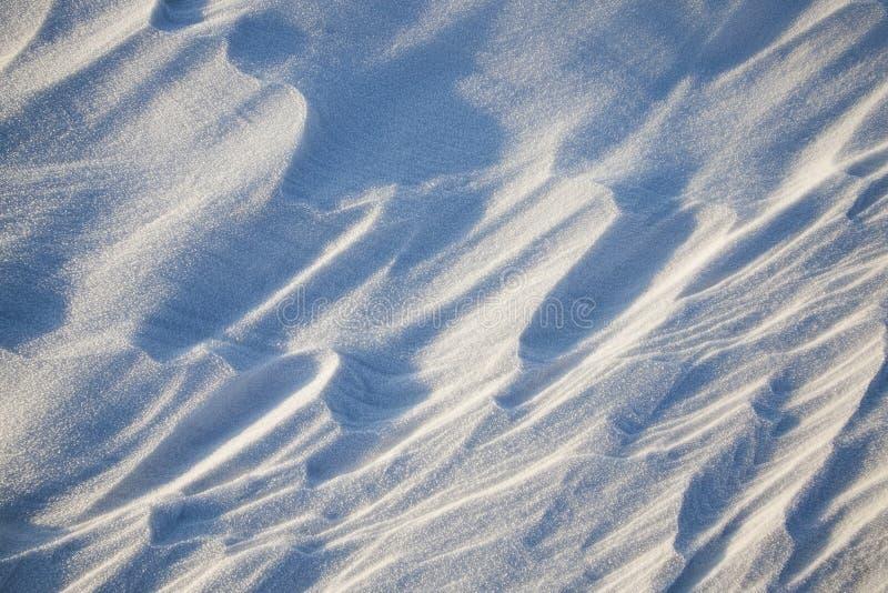 Sneeuwafwijkingen in de winter royalty-vrije stock foto
