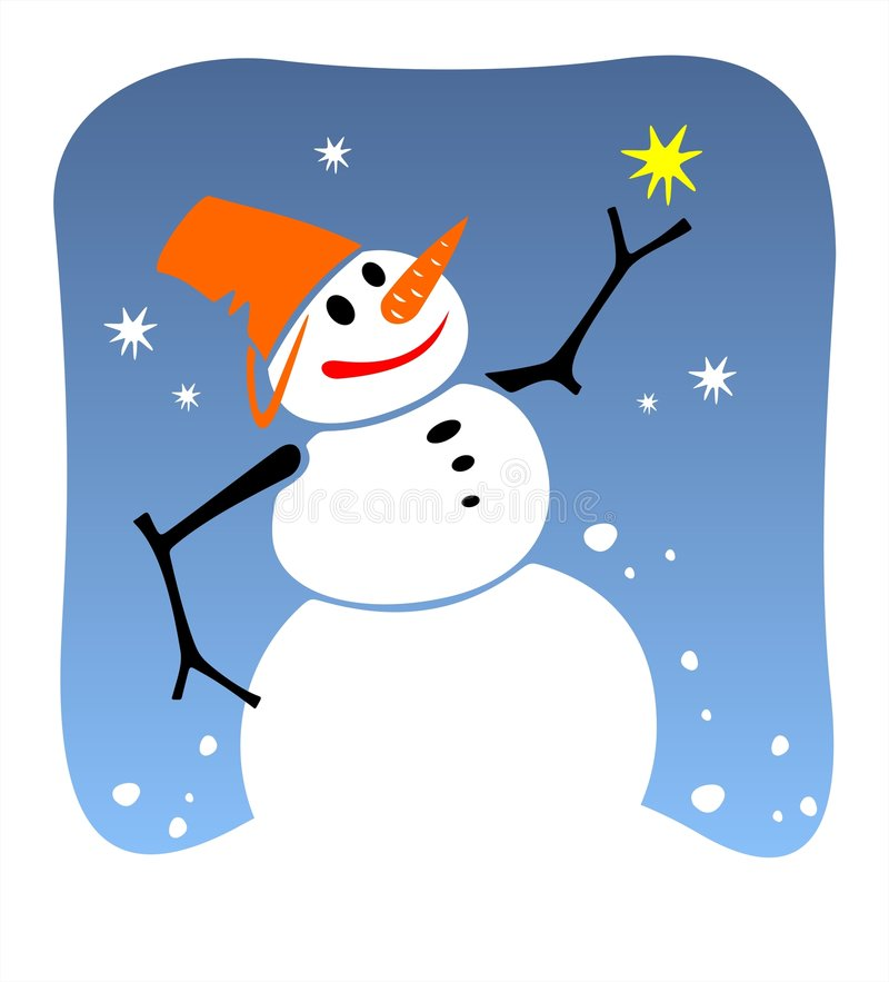 Sneeuwbal vector illustratie