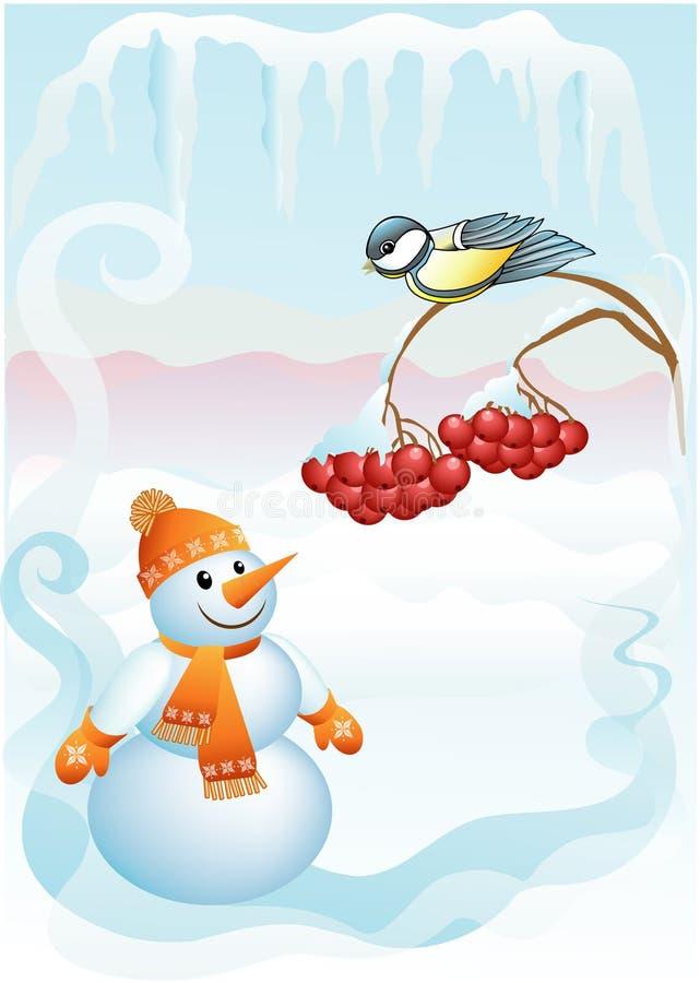 Sneeuwbal & mees stock illustratie