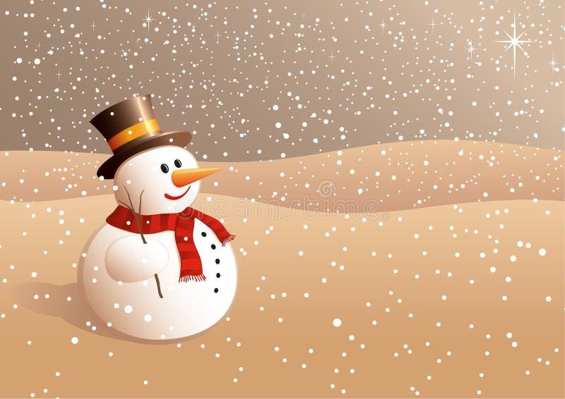 Sneeuwbal die aan de sterren kijkt stock illustratie