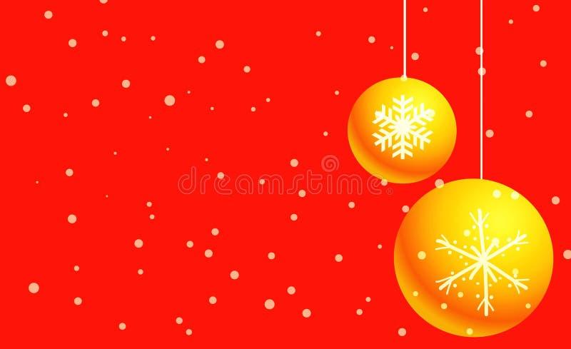 Sneeuwbal op rode achtergrond stock afbeelding