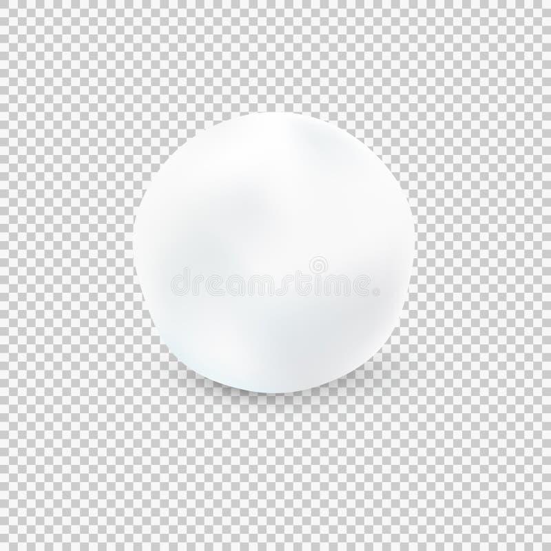 Sneeuwbal op Transparante Achtergrond Vector illustratie vector illustratie