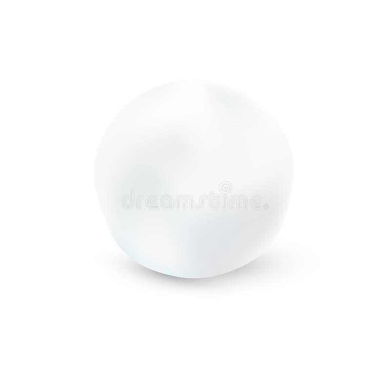 Sneeuwbal op Witte Achtergrond vector illustratie