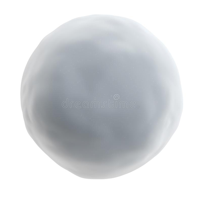 Sneeuwbal op witte achtergrond wordt geïsoleerd die stock illustratie