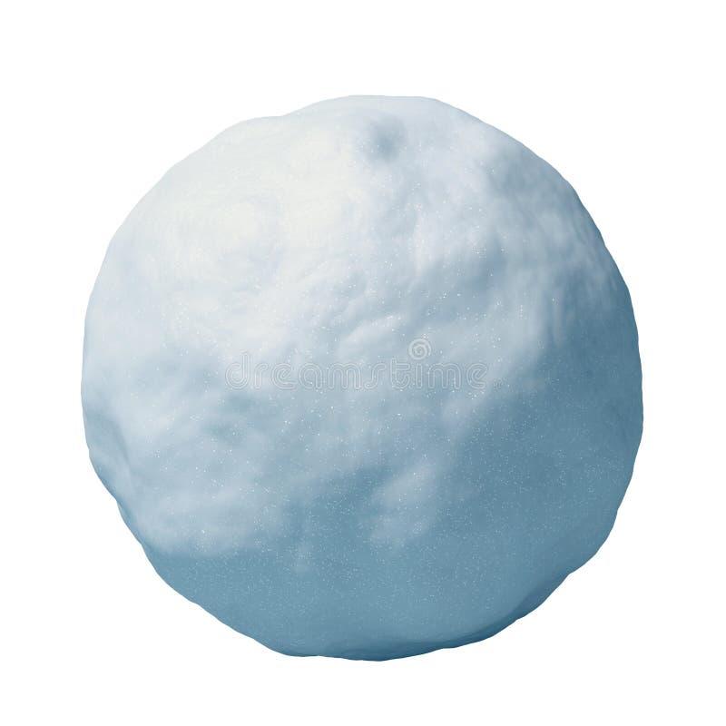 Sneeuwballen bij het witte 3d teruggeven worden als achtergrond geïsoleerd die stock illustratie