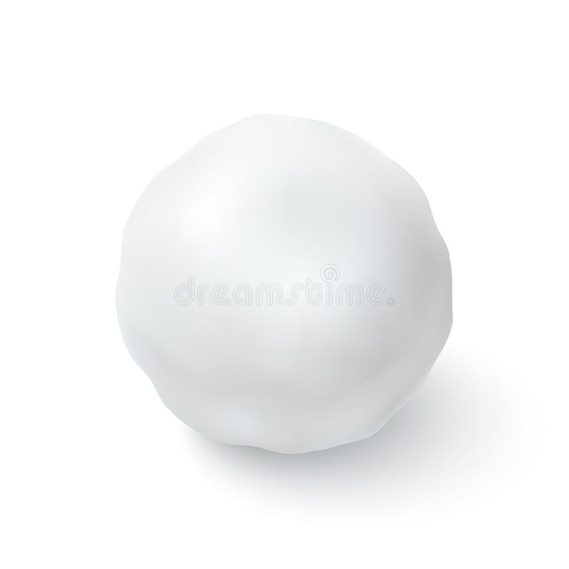 Sneeuwbalpictogram op witte achtergrond wordt geïsoleerd die royalty-vrije illustratie