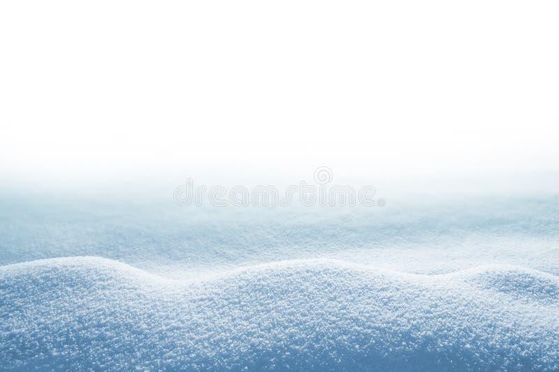 Sneeuwbank op witte achtergrond royalty-vrije stock fotografie
